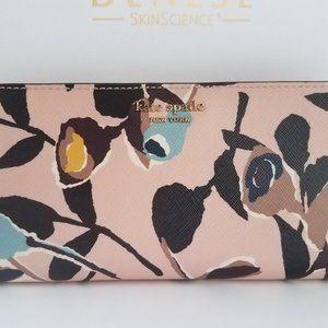 $128 NEW! Kate Spade cameron paper rose LRG bifold
